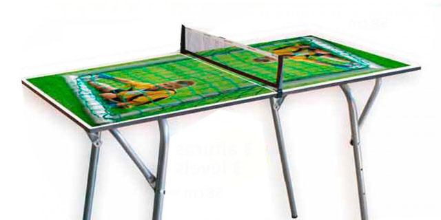 mea de ping pong diseñada para niños