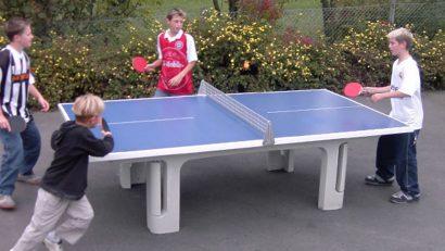 cavales compitiendo al ping pong
