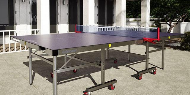mesa de ping pong en la terraza