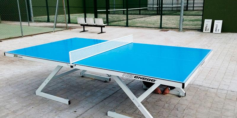 Cu les son las mejores mesas de ping pong para colegios y for Mesa ping pong exterior