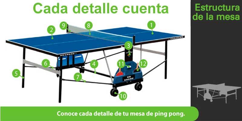 Gu a de compra de mesas de ping pong de exterior ofertas for Mesa de ping pong exterior