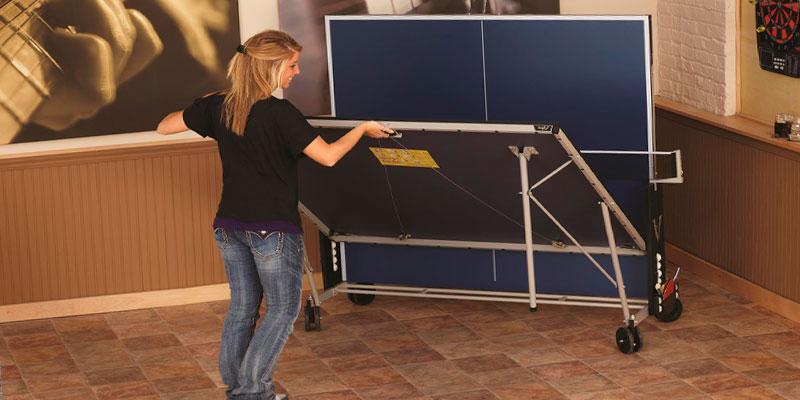plegado mesa de ping pong de interior