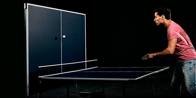 mesa de ping pong de interior con función frontón