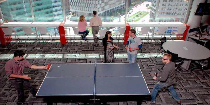 mesa ping pong workplace