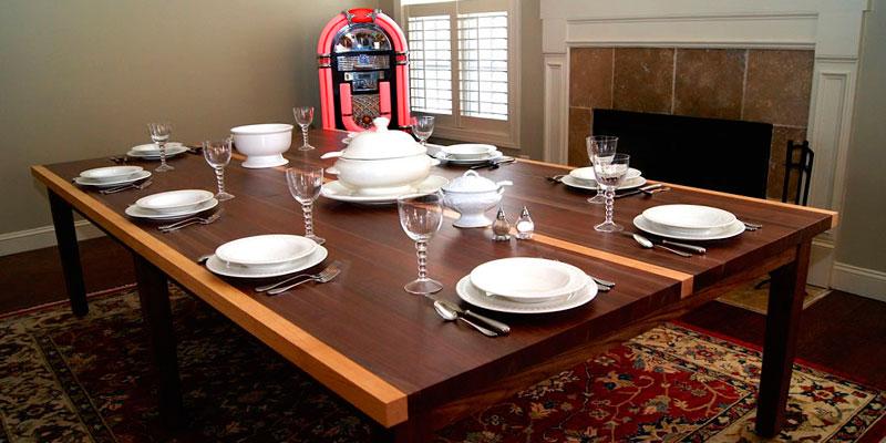 mesa ping pong en salón-comedor